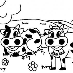 Vache 03 - motif à imprimer