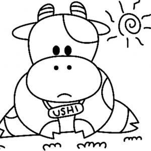 Vache 04 - motif à imprimer