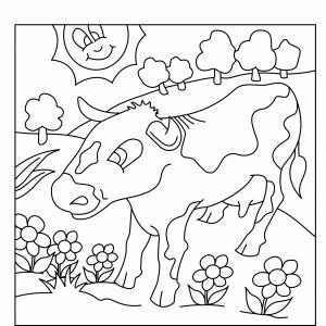 Vache 05 - motif à imprimer