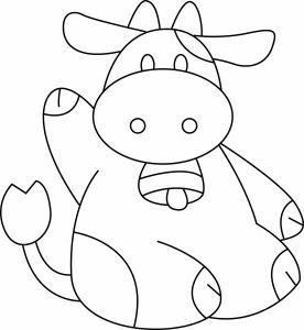 Vache 06 - motif à imprimer