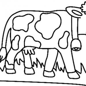 Vache 07 - motif à imprimer