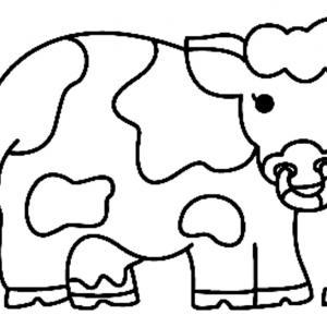 Vache 08 - motif à imprimer