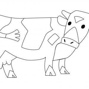 Vache 13 - motif à imprimer