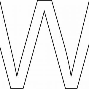 W majuscule - motif à imprimer