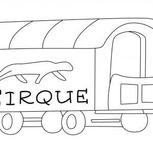 Wagon 01 - motif à imprimer