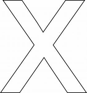 x minuscule - motif à imprimer