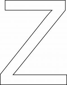 Z majuscule - motif à imprimer
