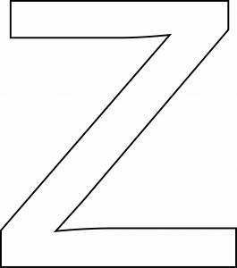 z minuscule - motif à imprimer