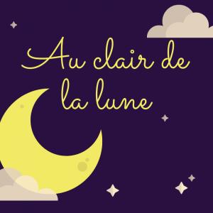 Au clair de la lune mon ami Pierrot est une chanson enfantine parmi les classiques du répertoire français. Retrouvez les paroles d'Au clair de la lune, des anecdotes sur les origines de cette chanson mais aussi une vidéo pour écouter ou pour la faire écou