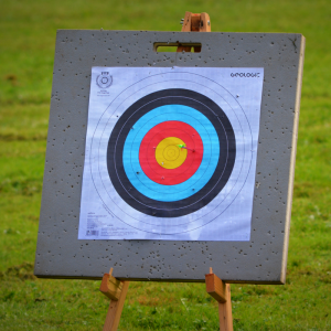 Lors des épreuves de tir à l'arc, les tireurs doivent atteindre une cible placée à une distance de 70 mètres, la distance peut varier en fonction des épreuves. Retrouvez des informations sur ce sport et les épreuves en compétition pendant les Grands Jeux