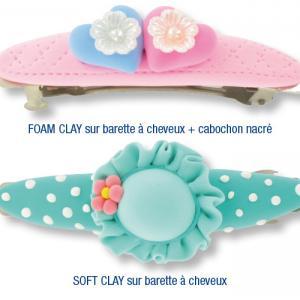 Barettes à cheveux décorées avec de la pâte à modeler SOFT CLAY
