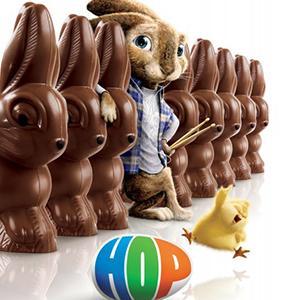 Bande annonce, infos et affiche du film : HOP. Suivez la folle aventure d'un petit lapin qui doit devenir le prochain dirigeant de la chocolaterie secrète qui produit chaque année les délicieuses confiseries pour les fêtes de Paques. Ce film d'animation s