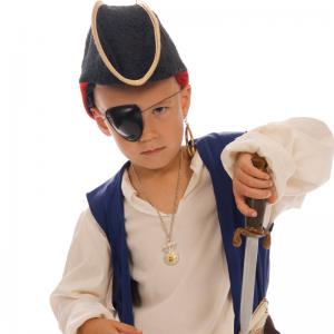 Fabriquer un badeau de pirate pour compléter un déguisement ou costume de pirate. Fiche d'activité détaillée