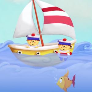 """La comptine """"Bateau sur l'eau"""" est une comptine idéal pour les plus petits des enfants. Une chanson sur l'univers marin à chanter avec les enfants pendant les vacances, à la mer ou même dans le bain ! Paroles et partitions disponible en téléchargement gra"""