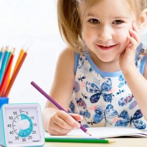 Le Time Timer est un minuteur visuel qui aide les enfants à se réparer dans le temps et permet de gérer le temps de la famille.