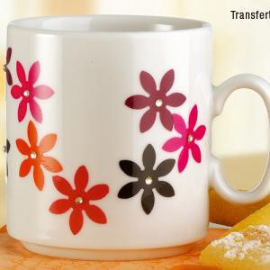 Mug en porcelaine déco collage papier spécial