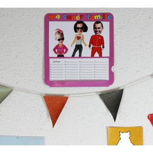 activité de bricolage enfants pour réaliser un calendrier d'anniversaire