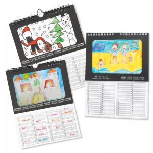 Calendrier à décorer, calendrier personnalisable