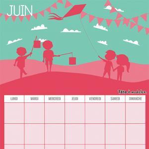 Le calendrier perpétuel du mois de juin à télécharger et à imprimer gratuitement