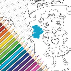 Une jolie carte gratuite à colorier, compléter et à offrir à la meilleure maman pour la fete des meres. Cette jolie carte sera un cadeau parfait pour la fete des meres avec un petit poeme inscrit a l'interieur, copie