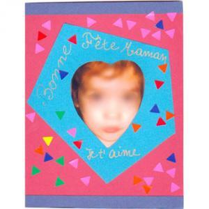 Une jolie carte pour la fête des mères.... c'est tout bête à réaliser et les enfants aimeront beaucoup réaliser ce cadeau de fête des mères pour leur maman. Une carte de