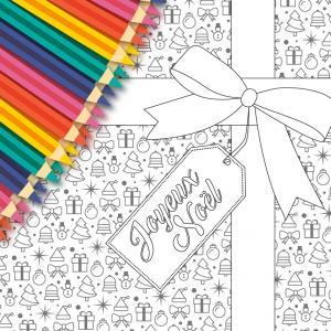 Une jolie carte gratuite à imprimer, à colorier, compléter et à offrir à sa famille pour Noel. Cette jolie carte sera un cadeau parfait pour Noël avec un petit poeme inscrit a l'interieur.