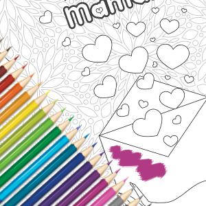 Une jolie carte gratuite à imprimer, colorier, compléter et à offrir à la meilleure maman pour la fete des meres. Cette jolie carte sera un cadeau parfait pour la fete des meres avec un petit poeme inscrit a l'interieur.