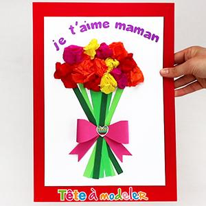carte pour la fête des mères Carte de Fête des mères à fabriquer