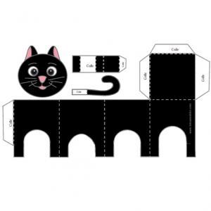 Un paper toy pour fabriquer un chat noir. Le paper toy chat noir est parfait pour occuper votre enfant lorsqu'il s'ennuie. Le modèle de chat noir est à imprimer sur une feuille ordinaire avant d'à™tre d&eacut