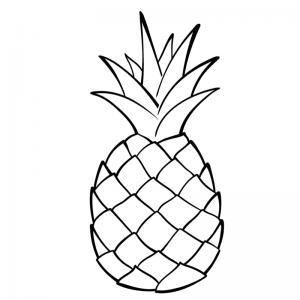 Voici un coloriage d'ananas sur le thème des fruits. Un dessin à imprimer pour les amoureux de la saison estivale.