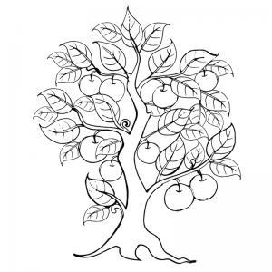 Un coloriage arbre pour tous les enfants qui aiment la nature et les arbres. Page 4