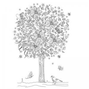 Un coloriage arbre pour tous les enfants qui aiment la nature et les arbres. Page 6