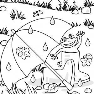 Voici un coloriage d'automne à imprimer gratuitement. Un dessin d'automne à imprimer pour tous les petits amoureux de la nature. Page 06