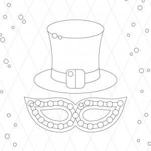 Voici le coloriage carnaval ! Un dessin à imprimer sur le thème du Carnaval et de mardi gras