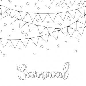 Voici le coloriage carnaval ! Un dessin à imprimer sur le thème du Carnaval et de mardi gras - Page 2