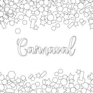 Voici le coloriage carnaval ! Un dessin à imprimer sur le thème du Carnaval et de mardi gras - Page 4