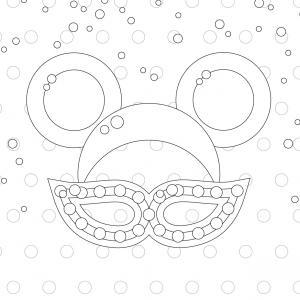 Voici le coloriage carnaval ! Un dessin à imprimer sur le thème du Carnaval et de mardi gras - Page 6