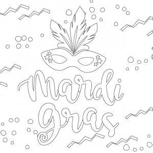 Voici le coloriage carnaval ! Un dessin à imprimer sur le thème du Carnaval et de mardi gras - Page 9