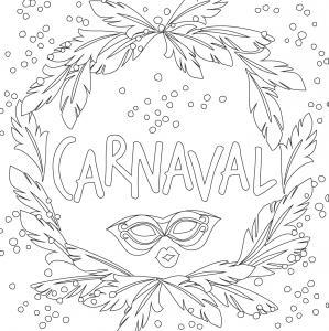 Voici le coloriage carnaval ! Un dessin à imprimer sur le thème du Carnaval et de mardi gras - Page 10