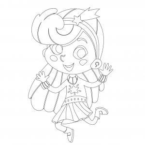 Voici le coloriage carnaval ! Un dessin à imprimer sur le thème du Carnaval et de mardi gras - Page 18