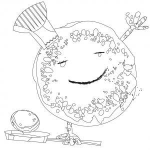 Voici le coloriage chandeleur ! Un dessin à imprimer sur le thème des crêpes et de la chandeleur - Page 4