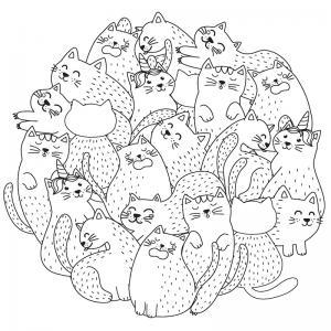 Voici un coloriage chat à imprimer gratuitement. Un dessin de chat à imprimer pour tous les petits amoureux des animaux. Page 6