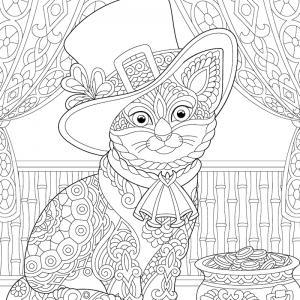 Voici un coloriage chat à imprimer gratuitement. Un dessin de chat à imprimer pour tous les petits amoureux des animaux. Page 5