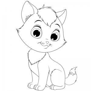 Voici un coloriage chat à imprimer gratuitement. Un dessin de chat à imprimer pour tous les petits amoureux des animaux. Page 4