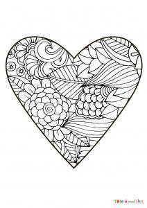 Voici le coloriage coeur #01. Un joli dessin à imprimer gratuitement plein d'amour !