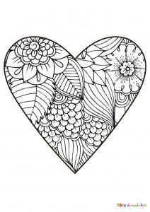 Voici le coloriage coeur #03. Un joli dessin à imprimer gratuitement plein d'amour !