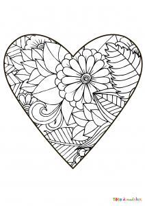 Coloriage Coeur Des Coloriages De Coeur à Imprimer Sur Tete
