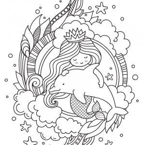 Coloriage dauphin : voici un dessin à imprimer avec un superbe dauphin. Un coloriage à imprimer sur le thème des dauphins et des animaux marins - Page 11