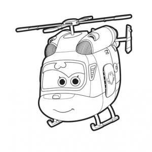 Un dessin à imprimer à télécharger gratuitement de Dizzy de Super Wings copie