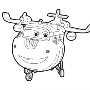 Un dessin à imprimer à télécharger gratuitement de Donnie de Super Wings